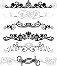 Set of black ornaments Royalty Free Stock Photo