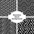 Set of black and white patterns an elegant vector pattern Stock Photo