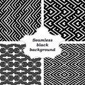 Set of black and white patterns an elegant vector pattern Royalty Free Stock Photos
