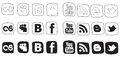 Set black and white vector icons Royalty Free Stock Images