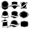 Set of blank frame badges ribbons and labels set 6 Royalty Free Stock Photo