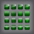 Set of blank green buttons for you design or app Royalty Free Stock Image