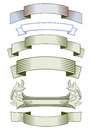 Set of blank label ribbons Royalty Free Stock Photo