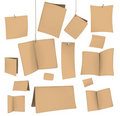 Set of blank recycled paper VECTOR Royalty Free Stock Photo