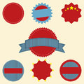 Set blank retro vintage badge icons logo labels packaging web print eps Royalty Free Stock Photo