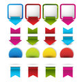 Set of blank retro vintage badges banners stickers bookmark and labels illustration design Stock Photos