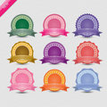 Set of blank retro vintage badges and labels. Royalty Free Stock Photo