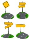 Set of Blank Road Sign Concepts. Royalty Free Stock Photo