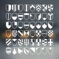 Set of blank of shields retro Stock Photos