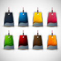 Set of Blank Tags| Labels of Different Colors Royalty Free Stock Photography