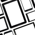 Set of blank templates digital devices isolated on white Royalty Free Stock Image