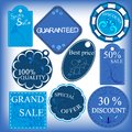 Set of blu sale labels label can be used for advertisement and goods decoration Royalty Free Stock Photo