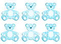 Set of blue applique bear. Royalty Free Stock Photography
