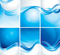 Set of Blue Background Stock Photography