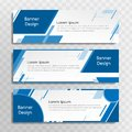A set of blue banner templates designed for the web and various headlines are available in three different designs.