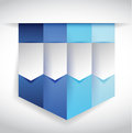 Set of blue banners illustration design over white Royalty Free Stock Photos