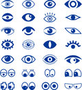 Set of blue eye signs illustrated isolated on white background Stock Photo