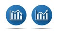 Set of blue flat icon of graph Royalty Free Stock Photo