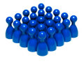 Set of blue game pieces Stock Image