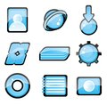 Set of blue icon Royalty Free Stock Images