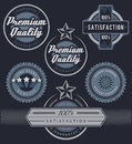 Set of blue promotion labels and badges Royalty Free Stock Photo