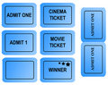 Set of blue tickets Royalty Free Stock Photo