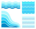 Set blue waves