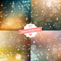 Set of blured backgrounds with soft bokeh effect vector illustration Stock Photography
