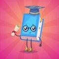 Set of book characters. Vector cute cartoons Royalty Free Stock Photo