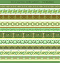 Set of  border patterns Royalty Free Stock Images