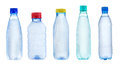 Set with bottles of water Royalty Free Stock Images