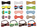 Set of bow ties isolated on white background Stock Image