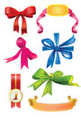 Set of  bows and ribbons Stock Photography