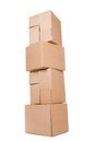 Set of boxes Royalty Free Stock Photo