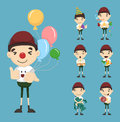 Set of boy birthday and celebration eps vector format Stock Photo