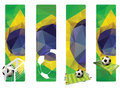 Set of Brazil concept color banners Royalty Free Stock Photo