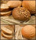 Set of bread Royalty Free Stock Image