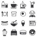 Set of breakfast icon Royalty Free Stock Photo