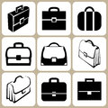 Set of briefcases illustrated business briefcase signs Stock Photo