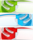 Set of bright banners Stock Photo