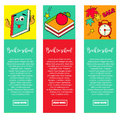 Set of bright banners BACK TO SCHOOL