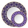 Set of bright circular patterns Royalty Free Stock Photo