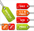 Set of bright spring tags Royalty Free Stock Photo