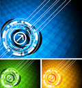 Set of bright tech background Stock Photo