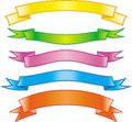 Set of bright vector colored ribbons Stock Image