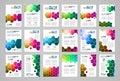 Set of Brochure template, Flyer Design or Depliant Cover for business presentation