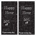 stock image of  A set of brochures for a happy hour at the bar