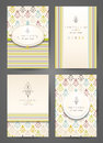 Set of brochures in vintage style. Creative cards.