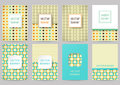 Set of brochures in vintage style. Vector design templates. Vint