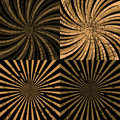Set of brown twirls Royalty Free Stock Photography